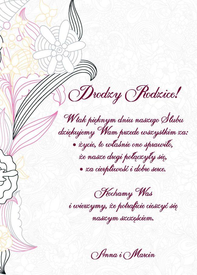Zaproszenia I Podziękowania ślubne
